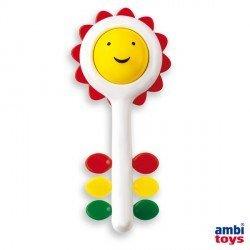 Sonajero para bebes a partir de 6 meses Girasol marca Ambitoys