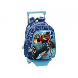 Mochila Escolar Blaze con ruedas Poliéster 27x34x10 cm Doble compartimento