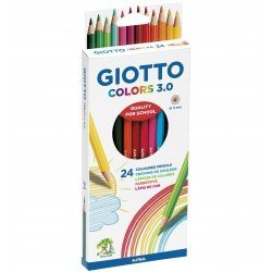 Lapices de colores Giotto colors 3.0 caja de carton de 24 lapices