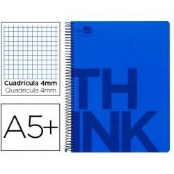 Bloc Cuarto Liderpapel serie Think cuadricula 4 mm azul