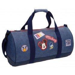Bolsa viaje 27x50x27 cm Microfibra y PVC Mickey Parches