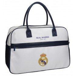 Bolsa viaje 32x49x19 cm Piel Sintética Real Madrid White