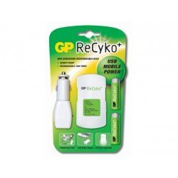 Cargador de pilas Recyko movil power 2-2,5horas y pack con 2 pilas AA Recyko