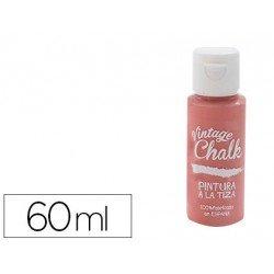 Pintura Acrilica Vintage Chalk Efecto Tiza Color Rojo Granada 60 ml Chalk Paint