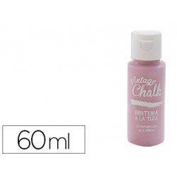 Pintura Acrilica Vintage Chalk Efecto Tiza Color Rosa Pétalo 60 ml Chalk Paint