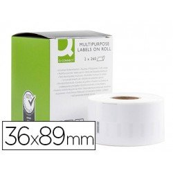 Etiqueta Adhesiva Q-Connect KF18537 Compatible Dymo 36x89 mm Caja 520 uds