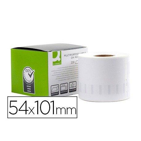 Etiqueta Adhesiva Q-Connect KF18539 Compatible Dymo 54x101 mm Caja 220 uds