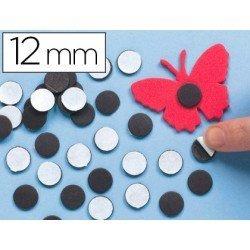 Imanes Adhesivos Redondos color negro 12 mm itKrea