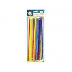 Varillas de chenille 30 cm Colores neon surtidos marca itKrea
