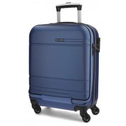 Maleta de cabina 55x40x20 cm Rígida con 4 ruedas Movom Matrix Azul con bolsillo frontal