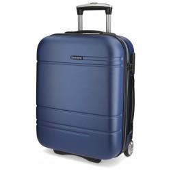 Maleta de cabina 55x40x20 cm Rigida con 2 ruedas Movom Matrix Azul