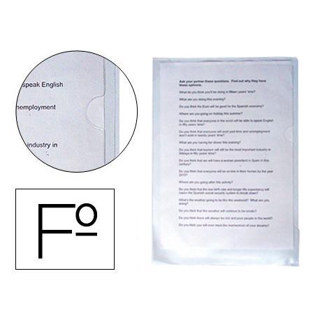 Funda dossier uñero Q-Connect Folio 180 micras transparente