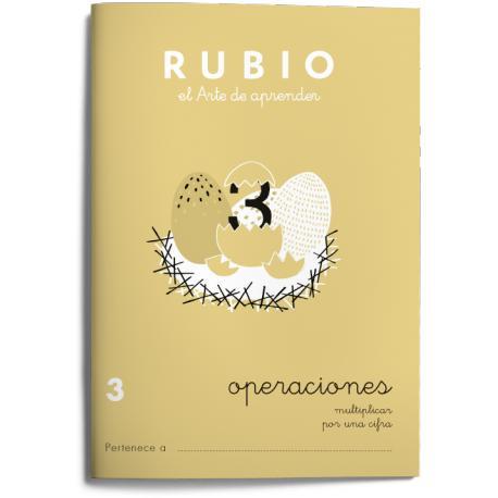 Cuaderno Rubio Operaciones nº 3 Multiplicar por una cifra