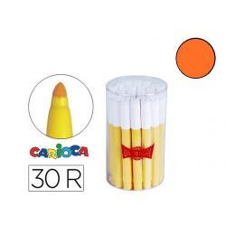 Rotulador Carioca Jumbo grueso caja 30 rotuladores Naranjas