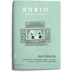 Cuaderno Rubio Escritura nº 1 Minúsculas, dibujos, números, grecas e iniciación a las mayúsculas con letra continua
