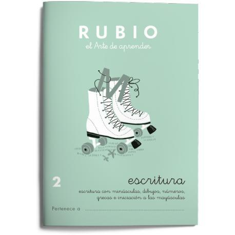 Cuaderno Rubio Escritura nº 2 Minúsculas, dibujos, números, grecas e iniciación a las mayúsculas con letra continua