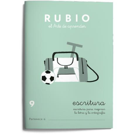 Cuaderno Rubio Escritura nº 9 Para mejorar la letra y la ortografía con letra continua
