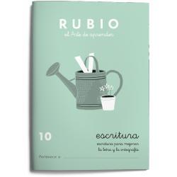 Cuaderno Rubio Escritura nº 10 Para mejorar la letra y la ortografía con letra continua