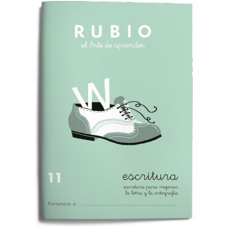 Cuaderno Rubio Escritura nº 11 Para mejorar la letra y la ortografía con letra continua
