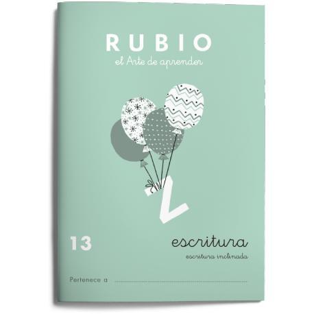 Cuaderno Rubio Escritura nº 13 Escritura inclinada
