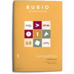 Cuaderno Rubio Matemáticas Evolución nº 1 Sistema de numeración Medidas de tiempo