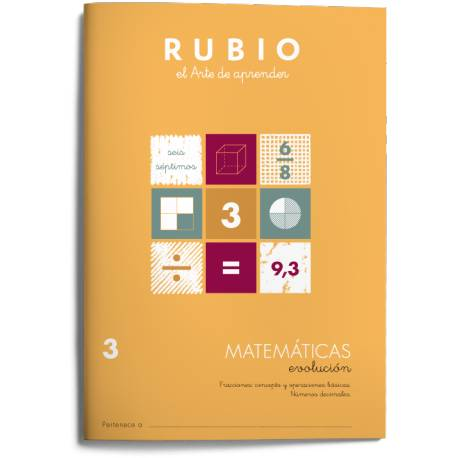 Cuaderno Rubio Matemáticas Evolución nº 3 Fracciones