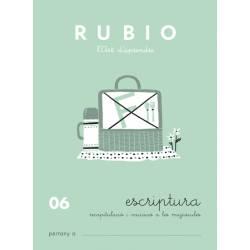 Cuaderno Rubio Escriptura nº 06 Recapitulación e iniciación de Mayúsculas Catalán