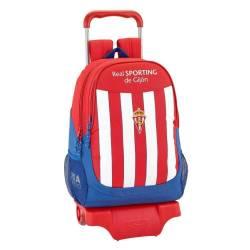 Mochila Escolar Real Sporting De Gijon 43x33x15 Cm Con Ruedas