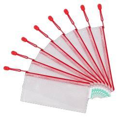 Bolsa multiusos 250x115 mm Tarifold plastico impermeable y ultrarresistente Roja