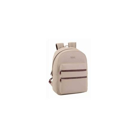 CARTERA ESCOLAR SAFTA MOOS CAPSULA BEIGE DAY PACK 310X150X440 MM
