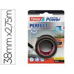 Cinta adhesiva Tesa Textil Extra Power perfect 2,75m x 38mm Negra
