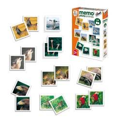 Juego didáctico a partir de 3 años Memo Photo animals Diset