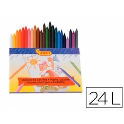 Lapices cera Jovi 24 unidades colores surtidos