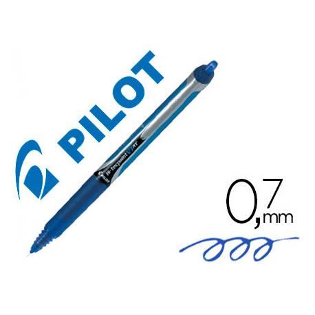 Pilot V-7 retractil 0.5 mm Azul