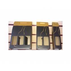 Bolsa botellero para regalo Arguval Triple Negro/Oro