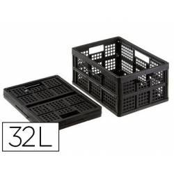 Caja de Almacenaje Archivo 2000 Prolipropileno 32 L plegable 44,3x31,5x22,5 cm con tapa