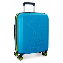 Maleta de cabina 55x40x20 cm Rigida Mickey Colored color Azul